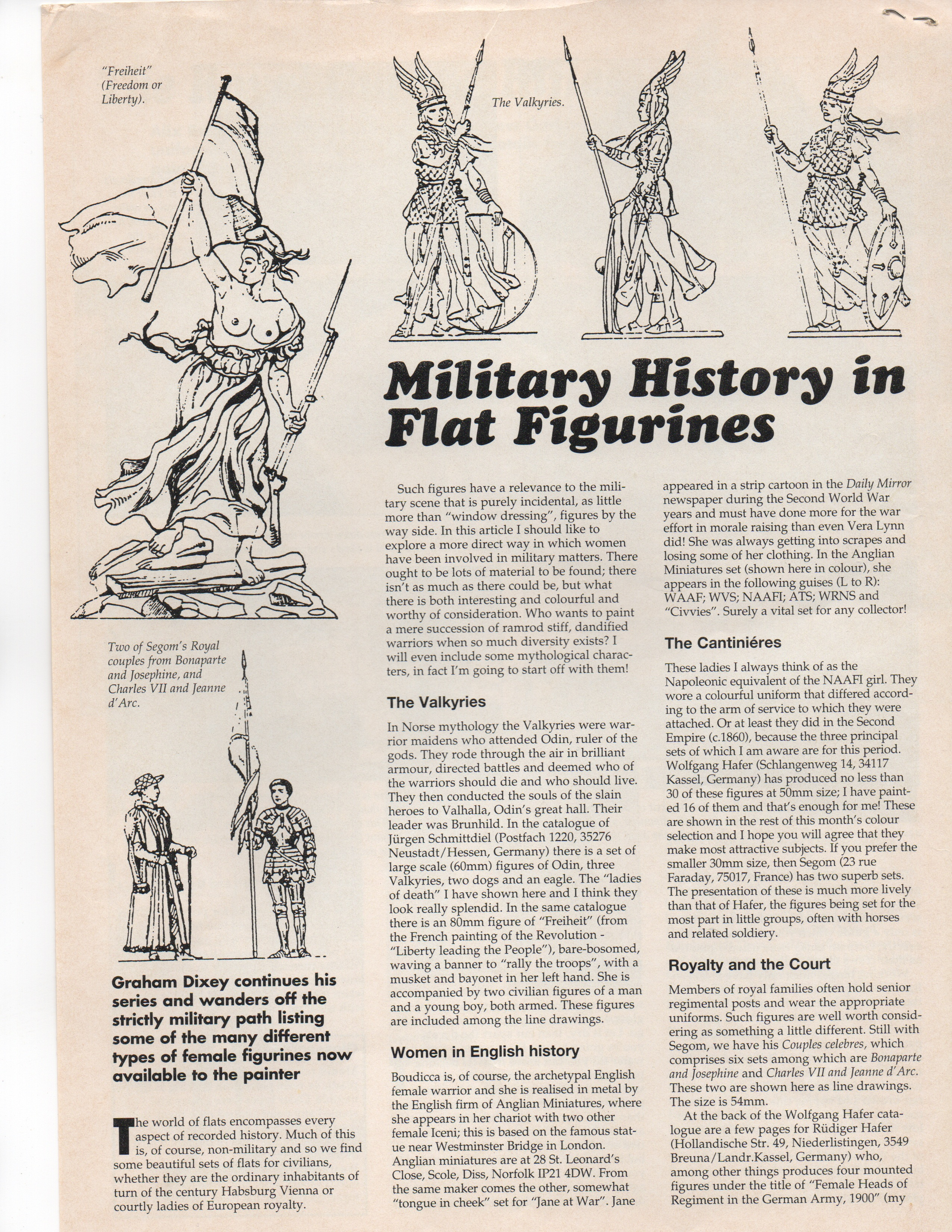 Military History in Flat Figures - Graham Dixey